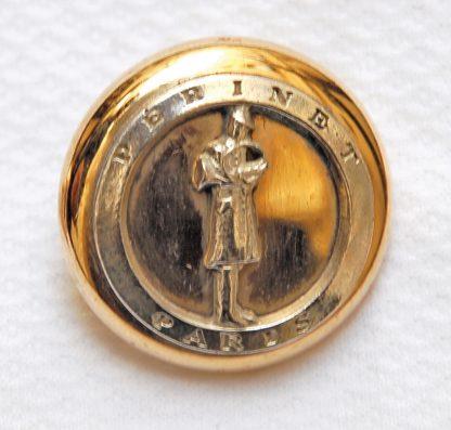 Bouton logo Périnet en argent grand modèle