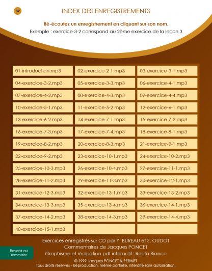Ecole du sonneur index des mp3