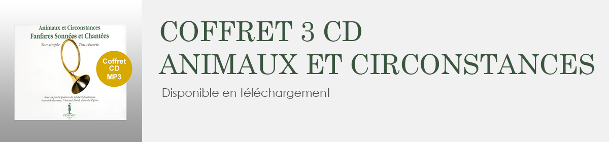 Coffret cd mp3 animaux et circonstances